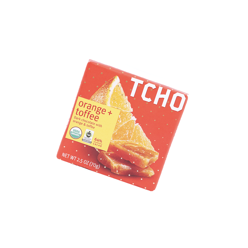 Tcho Dark Chocolate Orange+Toffee - 70g Snackoo
