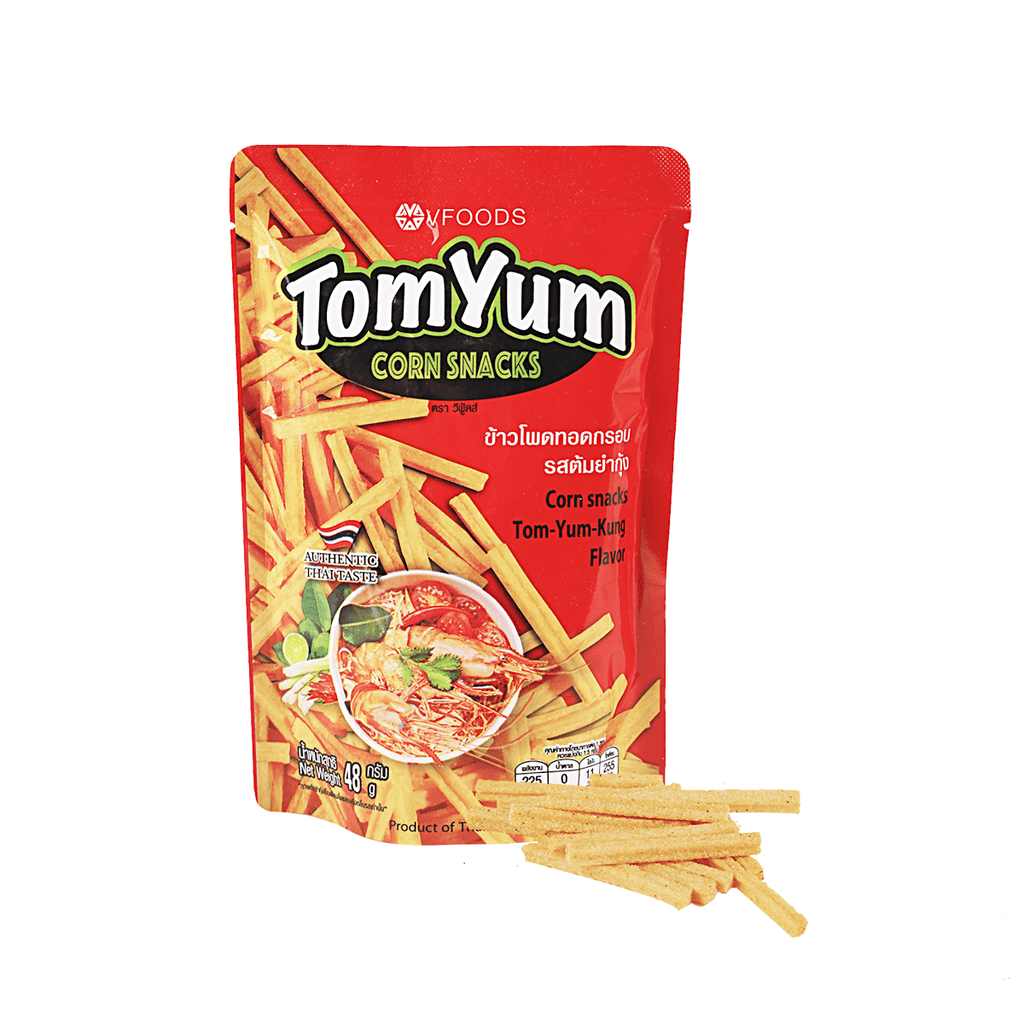 Vfoods Corn Snack Tom-Yum-Kung Flavor - 48g Snackoo
