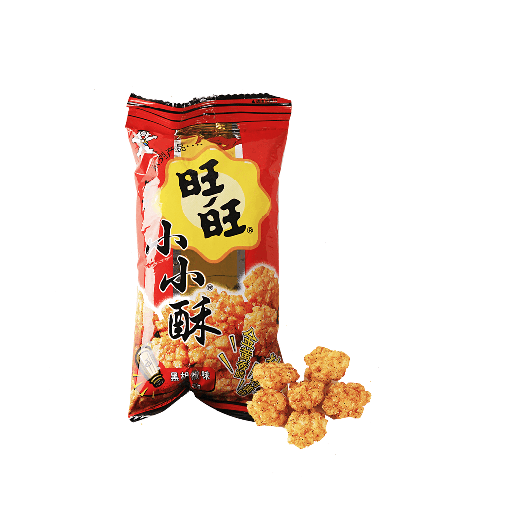 Want Want Mini Rice Cracker Black Pepper Flavor Snackoo