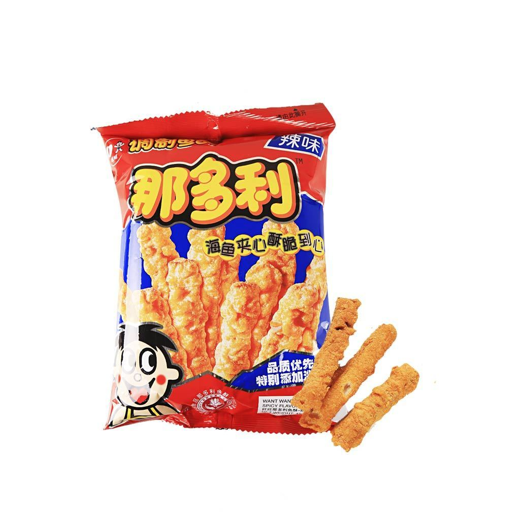 Want Want Natori Snack Spicy Flavor - 45g Snackoo
