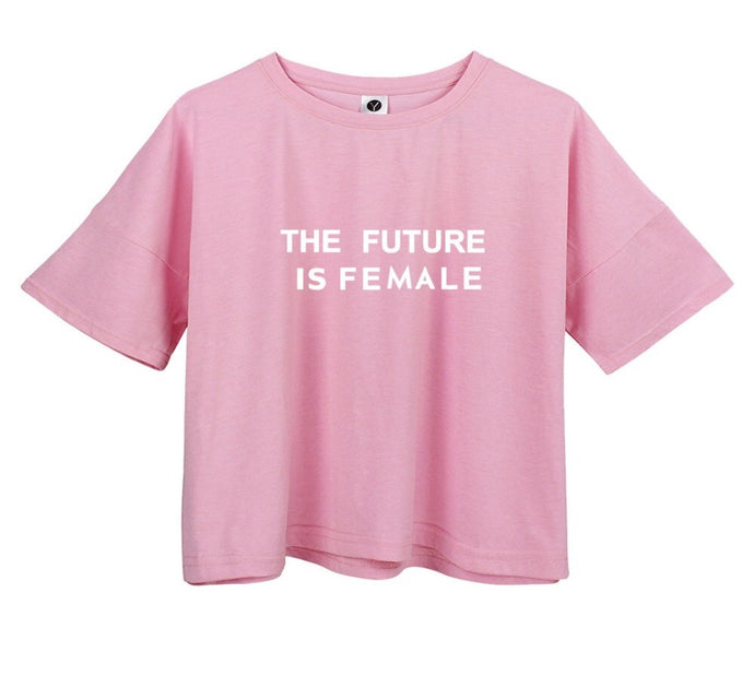 Future is Female Crop Top T Shirt