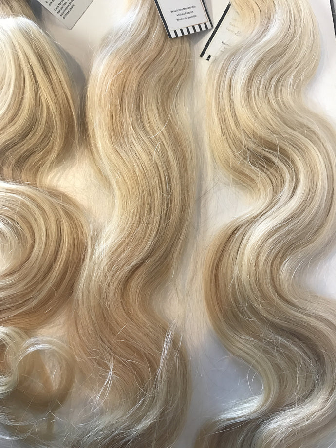 Blonde Bombshell Sew In Weft Hair Extensions Brazilian 1 Bundle