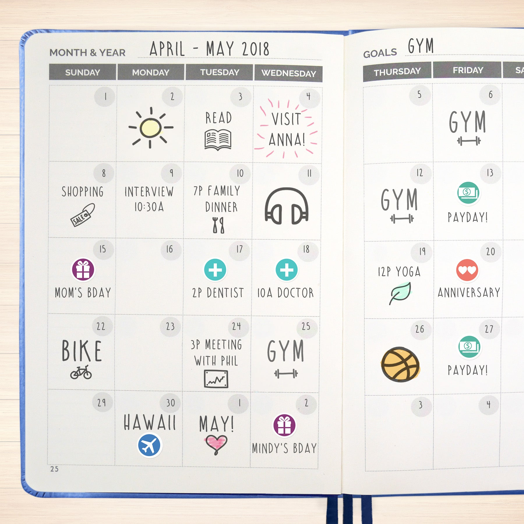 the simple elephant best agenda day planner to achieve your goals