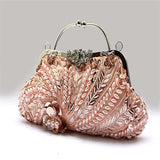 Boho Vintage Flower Evening Bag- Color Options