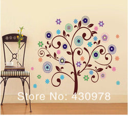Bohemian Tree Removable PVC Wall Stickers
