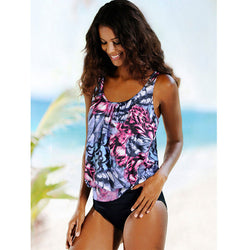 Sexy Tankini High Waist Two Pieces Bathing Suit (Plus Sizes)