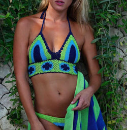 Knitted 2 Pieces Swimsuit Bikini