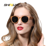 100% Handmade Skateboard Wood Sunglasses Women Fashion Brand Designer Round Summer Eyewear Polarized Driving Glasses Shade68048