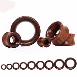 Wood Ear Stretchers Plugs and Hollow Tunnels
