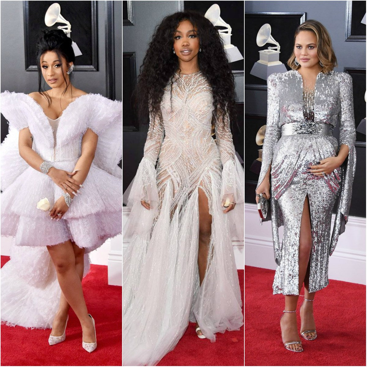 Celebrity Style Red Red Carpet Looks At This Year's Grammy's