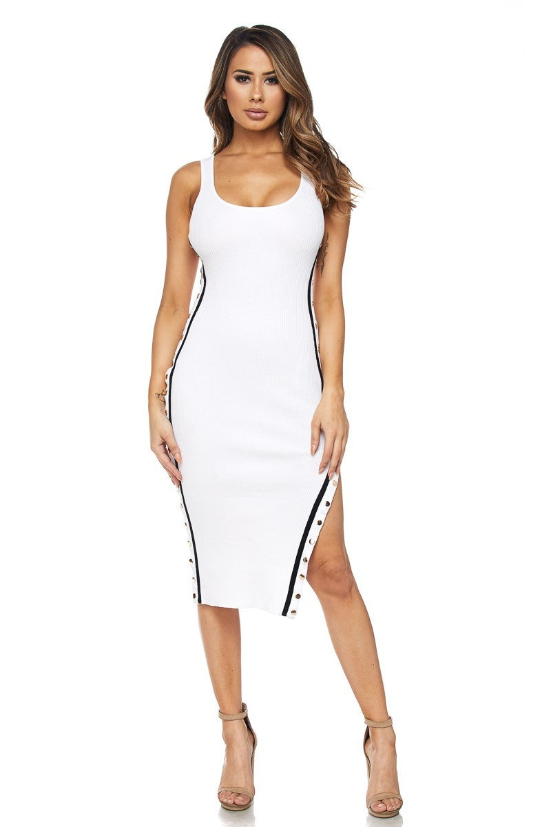 Hourglass Silhouette Midi Dress