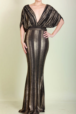 Metallic Evening Dress