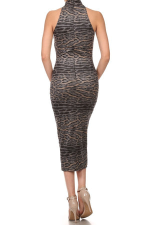 Faux Suede Leopard Printed Dress - ZEMA Boutique  - 2