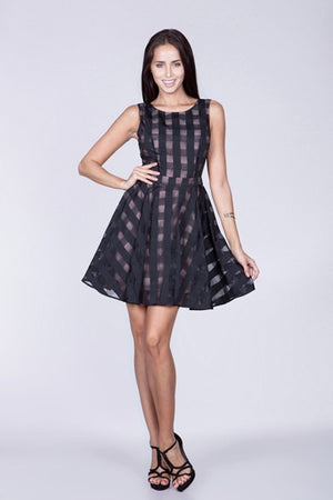Little black flared dress - ZEMA Boutique  - 1