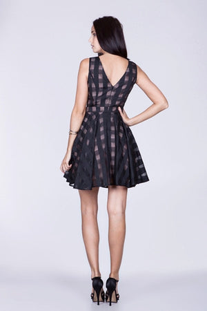 Little black flared dress - ZEMA Boutique  - 3