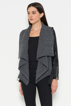 Cable Knit Moto Jacket