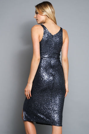 Alina Midnight Sequin Dress