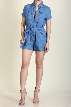 Light Denim Romper
