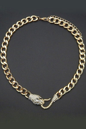 Snake Biting Necklace