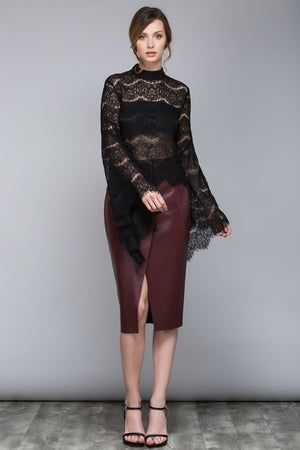 Feminine Lace Sheer Top