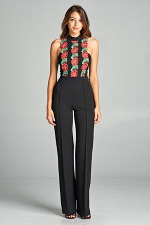 Flower Patch Detailed Jumpsuit