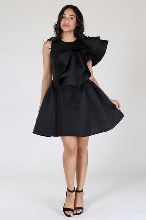Flounce Design Dress