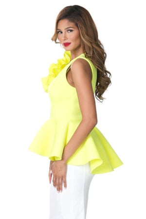 Big Flower Peplum Top