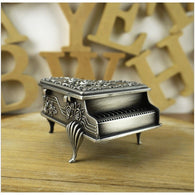 Rose Carved Elegant Piano Jewelry Box