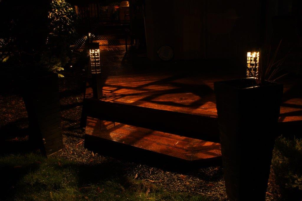 Deck staircase lighting