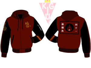 Fire and Honor Hooded Varsity Jacket