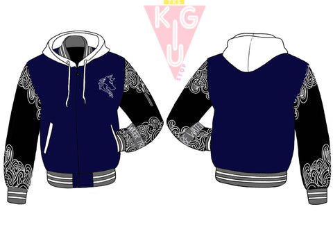 Water Tribe Hooded Varsity Jacket - Pre-Order