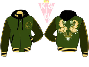 Earth Royalty Hooded Varsity Jacket