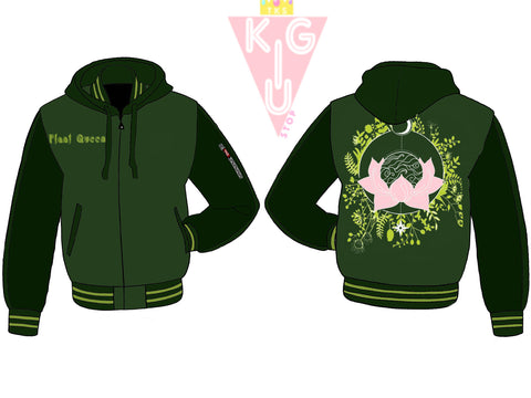 The Plant Queen Hooded Varsity Jacket - Pre-Order