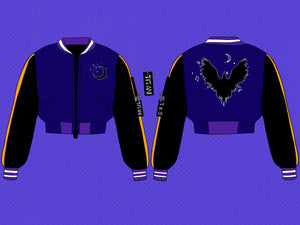 The Dark Raven Crop/Full Varsity Jacket - Pre-Order Only