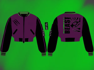 Wild Beast Crop/Full Varsity Jacket - Pre-Order Only