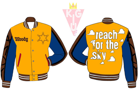 Reach For The Sky Varsity Jacket