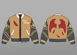 Fly Away Crop Varsity Jacket - Pre-Order Only