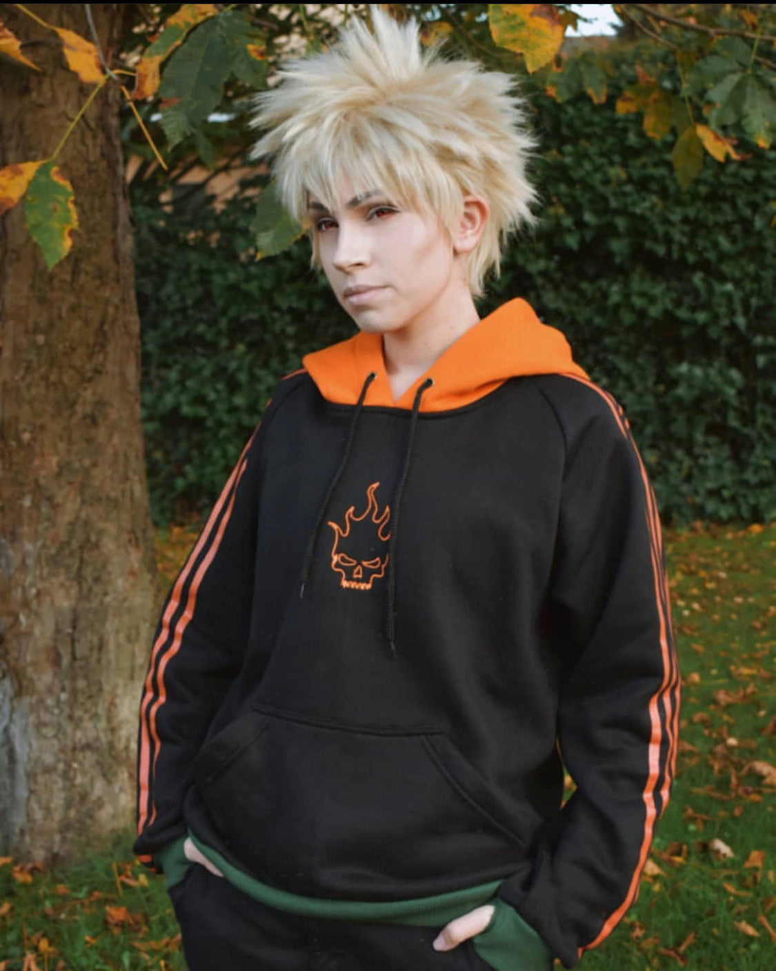 Burning Flame Basic Hoodie
