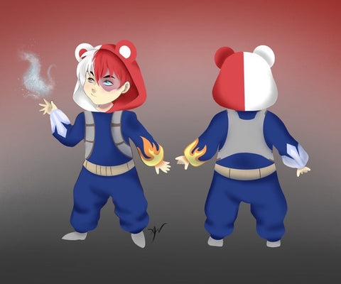 Icy Hot Bear Kigurumi - Custom Commission