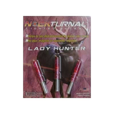 NockTurnal Lighted Nock GT Gold Tip Pink 3/pk