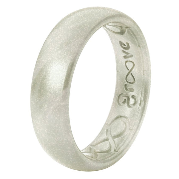 Groove Life Thin Silicone Ring Pearl