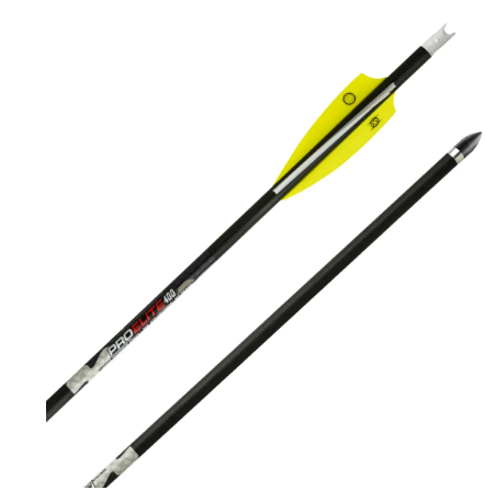 "Pro Elite 400 Carbon Arrows 20"" w/Alpha Nocks .003"""