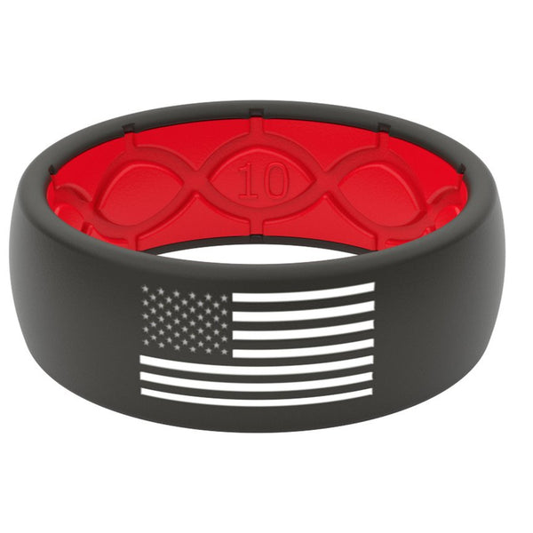 Groove Life American Flag Black/ White Flag