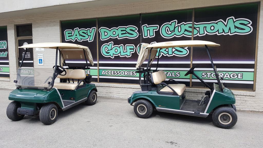 2007 Electric Club Car DS Golf Cart - New Trojan Batteries - SOLD