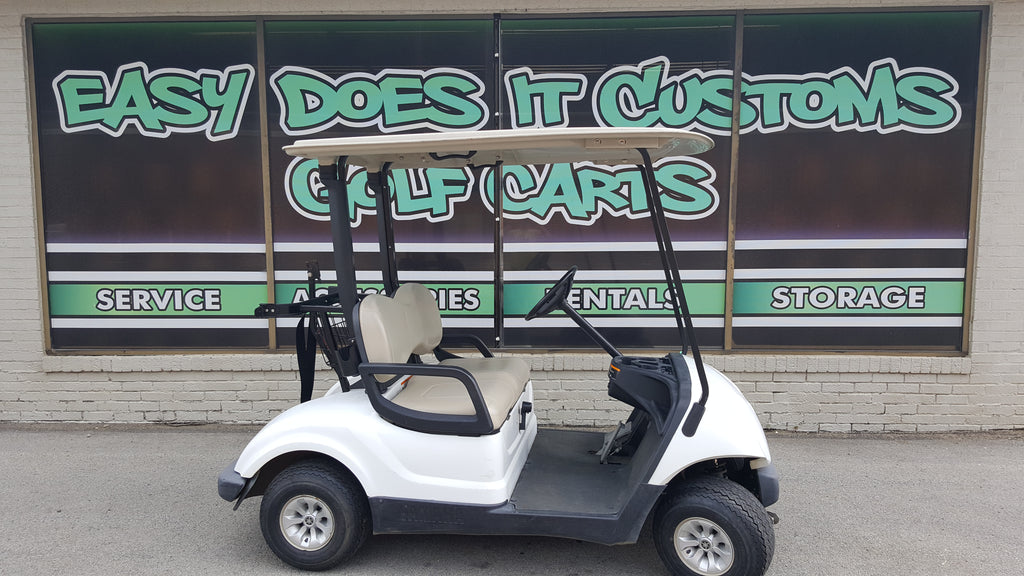 2012 Gas Yamaha Drive Golf Cart - White - SOLD