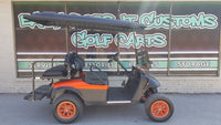 2012 Electric EZGO TXT Golf Cart with Black and Orange Matte Body - SOLD