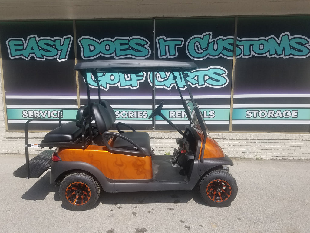 2013 Gas Club Car Precedent Golf Cart - Orange Flame