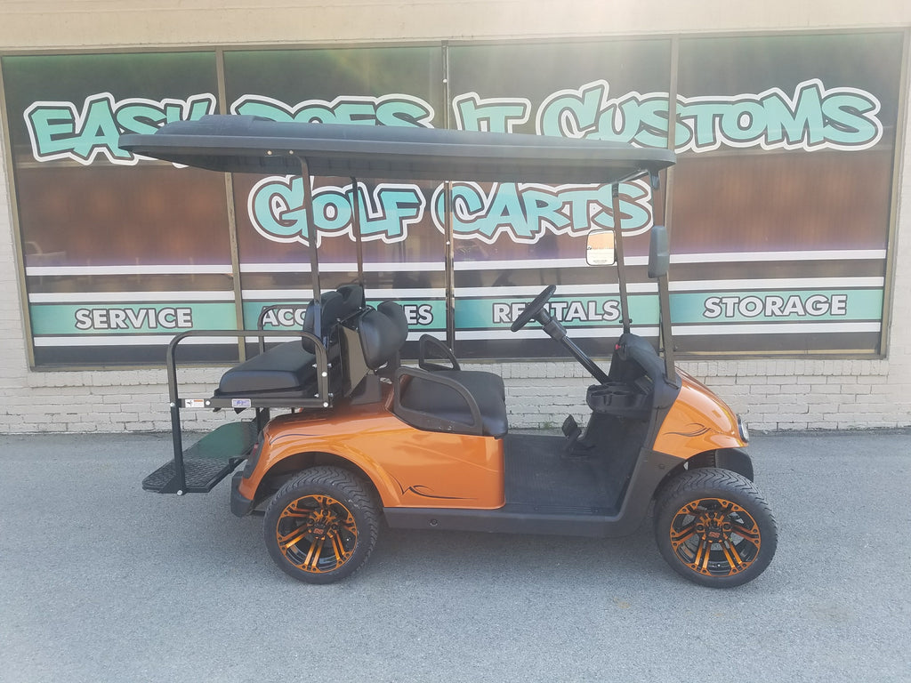 2013 Electric EZGO RXV Golf Cart - Sunburst Orange - SOLD