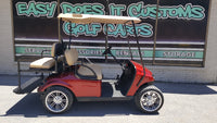 2015 EZGO TXT Electric Golf Cart - New Inferno Red Body - SOLD