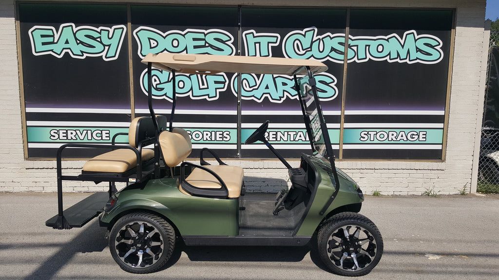 2014 Electric EZGO TXT Golf Cart with New Sage Green Body - SOLD